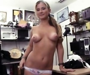 Blonde fuck in public shop A Tip for the Waitress