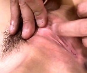 Hirsute pussy nun gets pussy licked and sucked by mature man